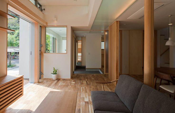 透間のある家【Slits house】  #igawa_arch #architecture #house #living