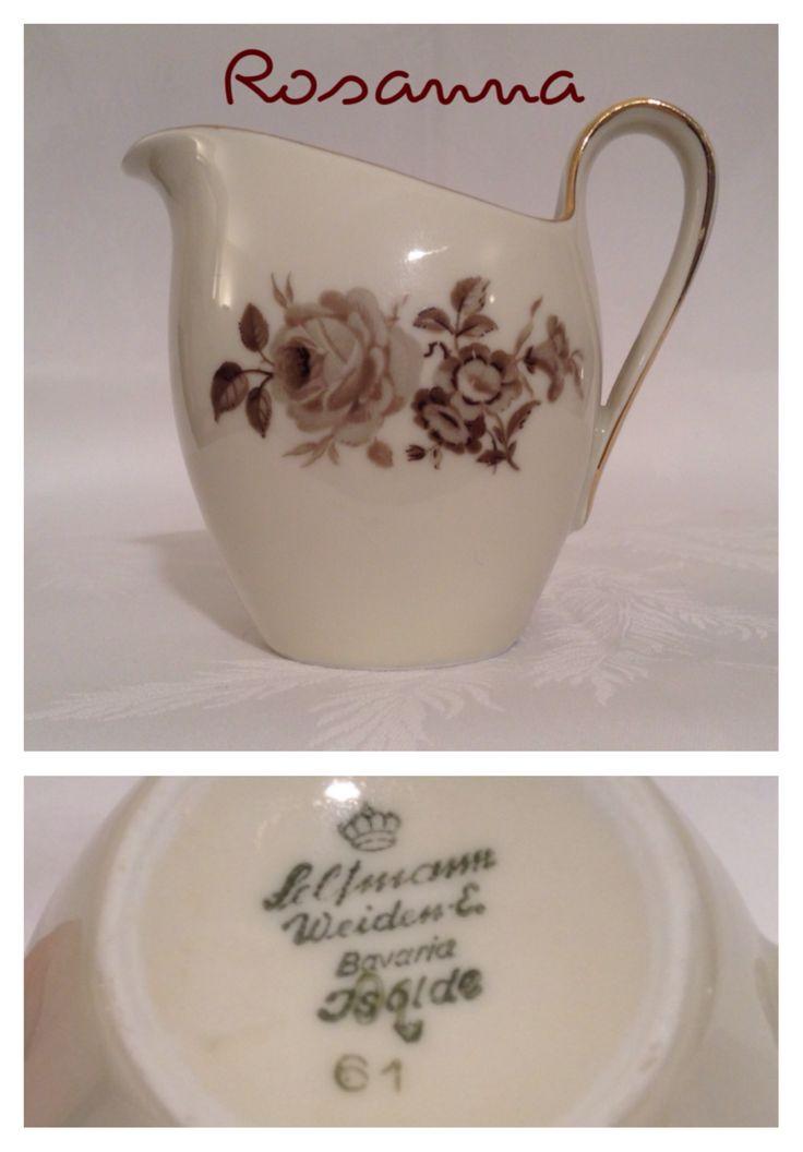 lattiera con disegno fiori marroni - selfmann bavaria