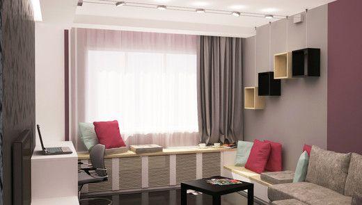 Маленькая гостиная в уютной квартирке