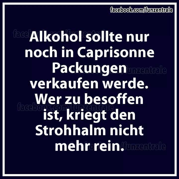 Alkohol Caprisonne Strohhalm besoffen lustig deutsch ...