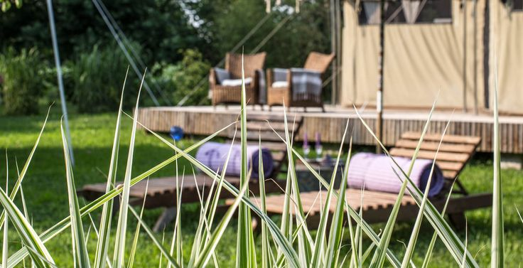 Glamping Canonici Luxury Camping Hotel in Venice, tents and lumbung cabin accommodation in the nature.
