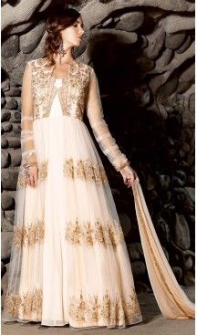 White Color Net Pakistani Abaya Style Stitched Salwar Kameez | FH471773175