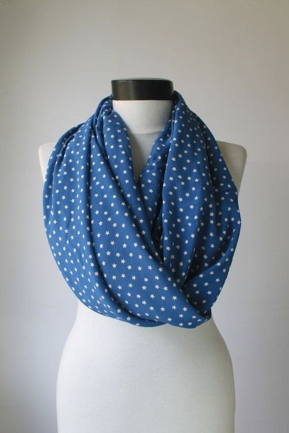 star blue scarfprint scarflong by starshopboutique on Etsy