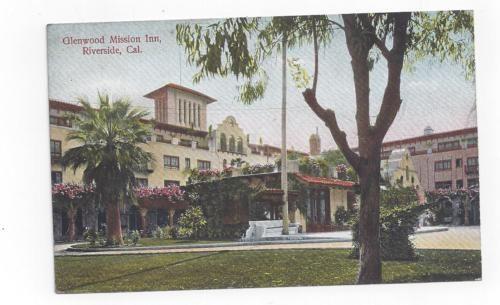 CA-Riverside-California-antique-post-card-View-of-Glenwood-Mission-Inn