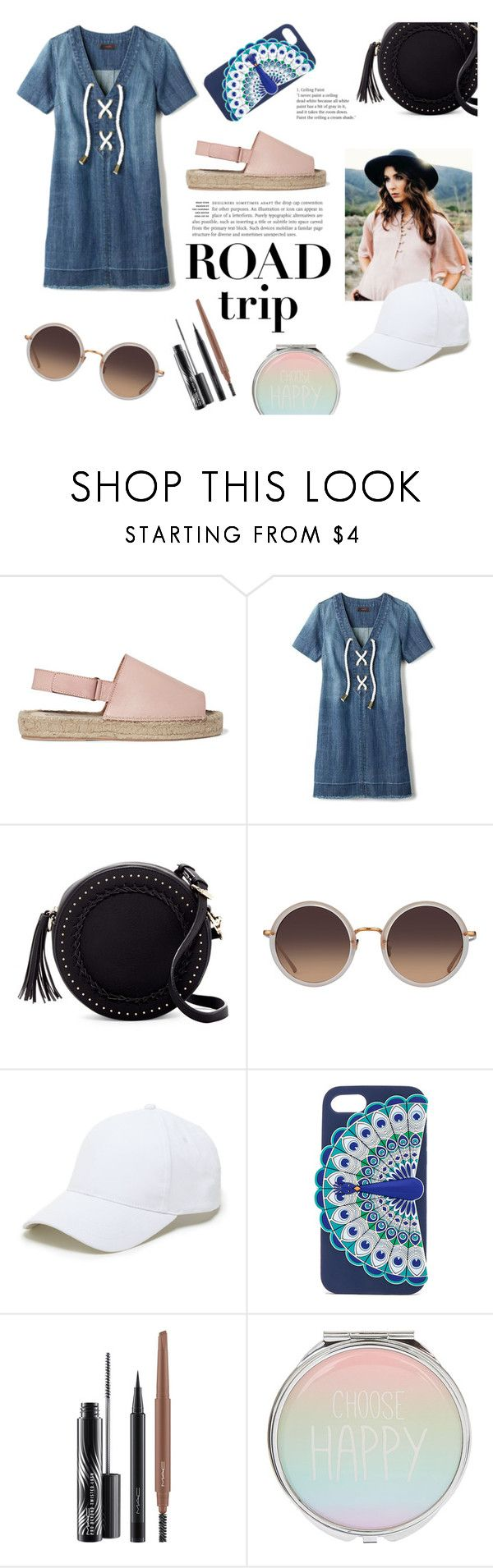 """Rev It Up: Road Trip Style"" by spencer-hastings-5 on Polyvore featuring moda, 8, Avon, Urban Expressions, Linda Farrow, Sole Society, Kate Spade, MAC Cosmetics i roadtrip"