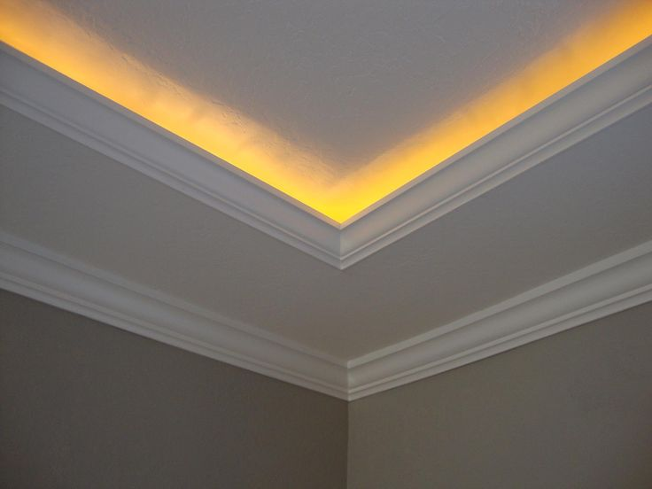 About this job : A Rope Light Is Hidden Behind The Crown Molding In ...