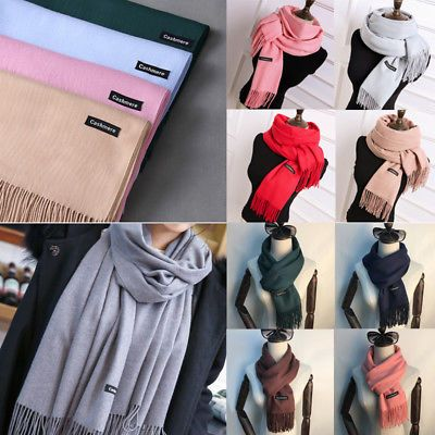 US-DEALS New Fashion Women's Solid Warm Cashmere Pashmina Scarf Wrap Shawl Stole Scarf: $5.82 End Date: Wednesday Feb-28-2018…%#USDeals%