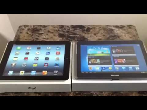iPed VS Samsung Galxy Note 10.1 Review