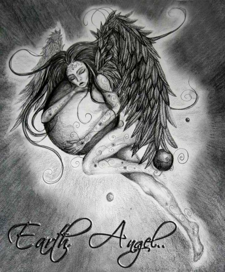 Earth Angel Sketch 2009 by Saysha Nicolson - immortalart.co.za