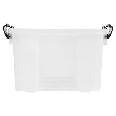 Iris - 46 Qt Utility Storage Tubs And Totes - Clear