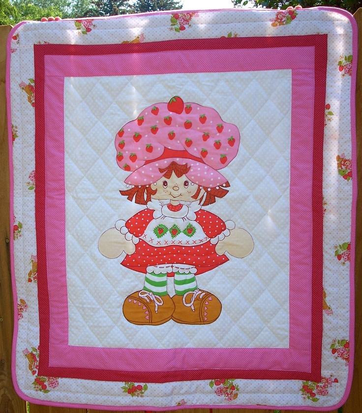 Vintage Strawberry Shortcake Baby Quilt