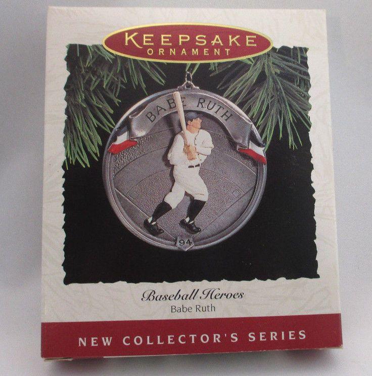 1994 Hallmark Ornament Babe Ruth  Baseball Heros Free Shipping