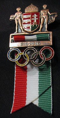 2016-RIO-Hungary-31st-Summer-OLYMPIC-Games-VeryLimited-NOC-Crest-Badge-pin-606