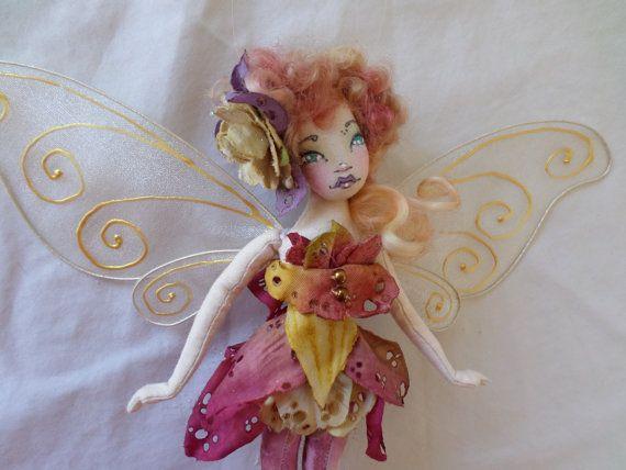 OOAK Fairy Art Doll  Ivy Nicolle Periwynkle  by paulasdollhouse