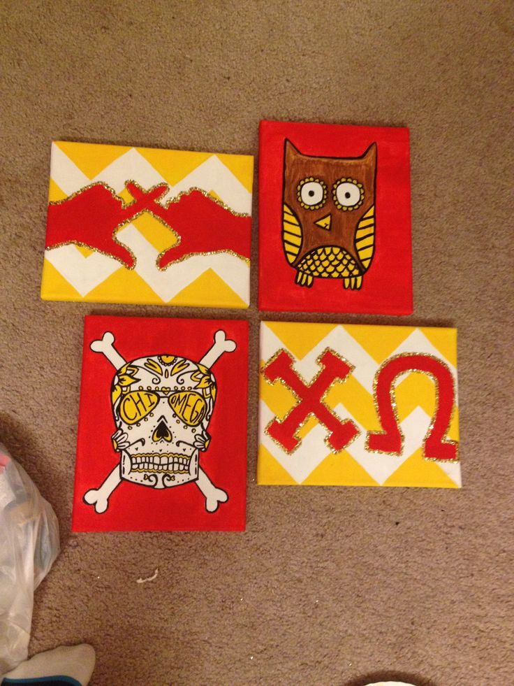 142 best images about big little for Sorority crafts for little