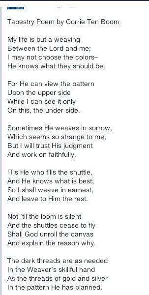 Tapestry poem