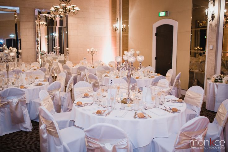 Royce Grand Ballroom - Ballroom Wedding - Gold & White Wedding - Bling Centrepiece - Royce Hotel Melbourne