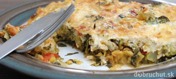 Fotorecept: Šošovicovo-brokolicový nákyp s mozzarellou