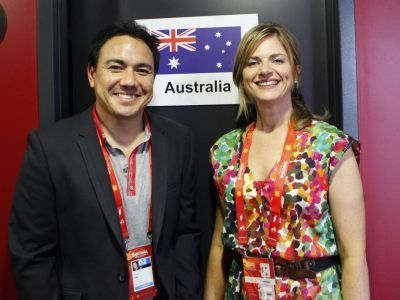 Can't wait for Eurovision on SBS! <3 Sam Pang and Julia Zemiro