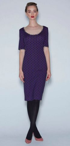WORLD AW16 Collection Piaggi Dress Purple Cross #fashion #madeinNZ #worldbrandNZ