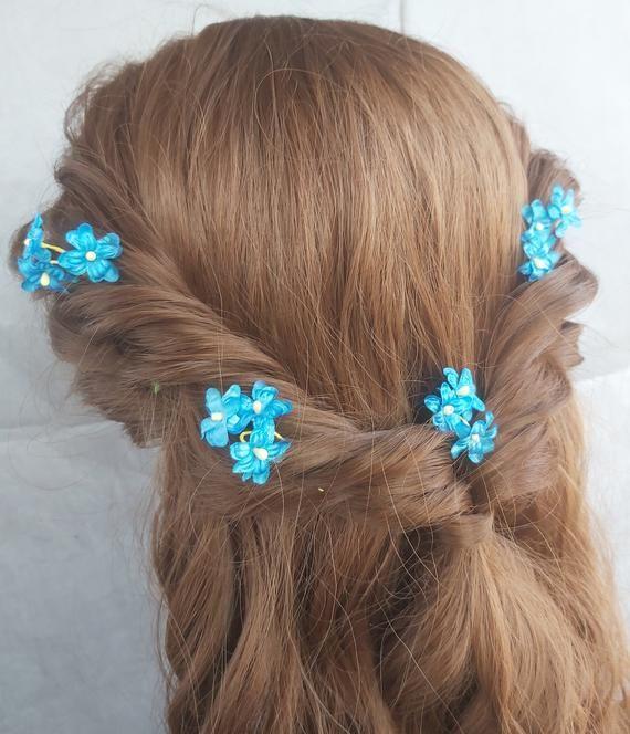 Rainbow Hair Stick Rainbow Hair Fork Rainbow Wedding Flower Accessories Hair Jewelry Rainbow Flower Hair Stick Wedding Flower Hair Pin