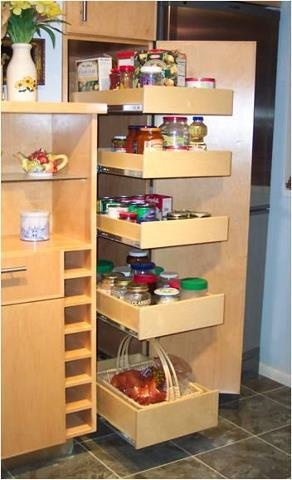 98 best pantry storage ideas images on pinterest kitchen for Extra kitchen storage ideas
