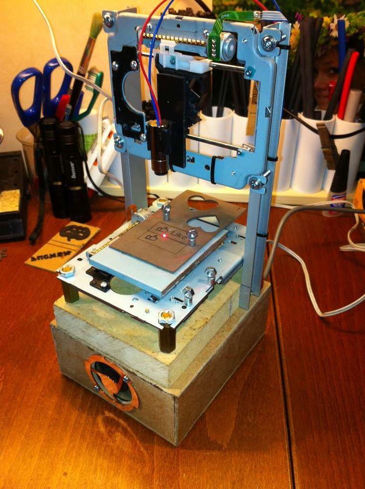 Лазерный гравер из dvd своими руками