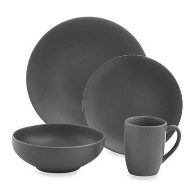 Gibson Paradiso Round Dinnerware Set in Grey - BedBathandBeyond.com
