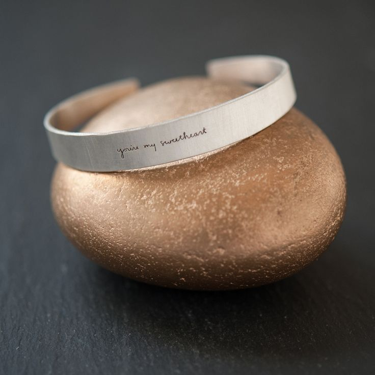 You're My Sweetheart sterling cuff from Martha American Made collection. Aw.
