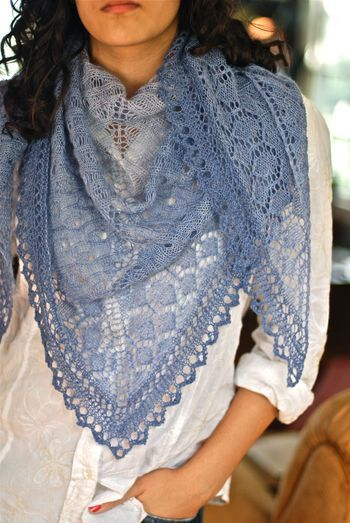 Viola lace scarf by Through the Loops.