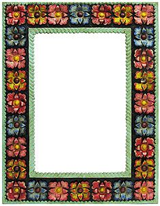 mexico has long been renowned for its beautiful and uniquely original tin mirror frames and - Mexican Frame