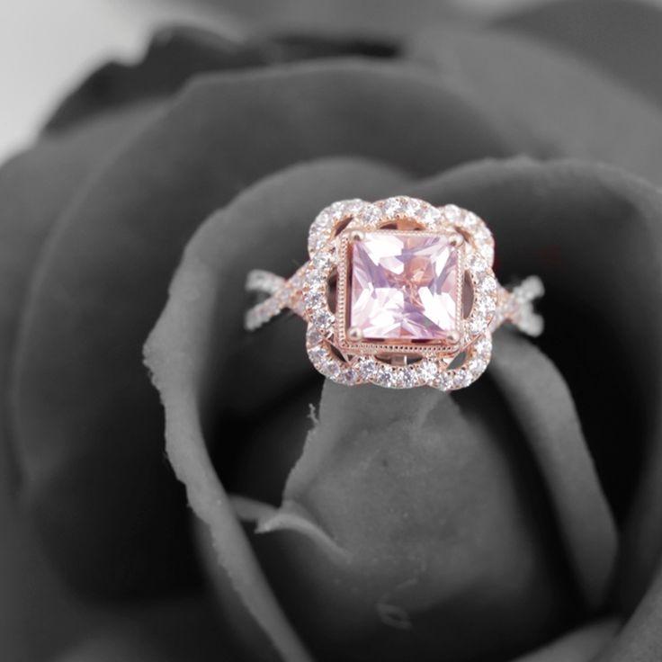 Engagement Rings Zac Posen: TRULY™ Zac Posen Morganite & 5/8 Ct. Tw. Diamond