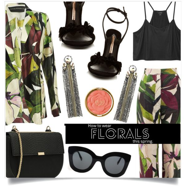 Alive by sonny-m on Polyvore featuring Monki, Erika Cavallini Semi-Couture, Sophia Webster, CÉLINE and Milani