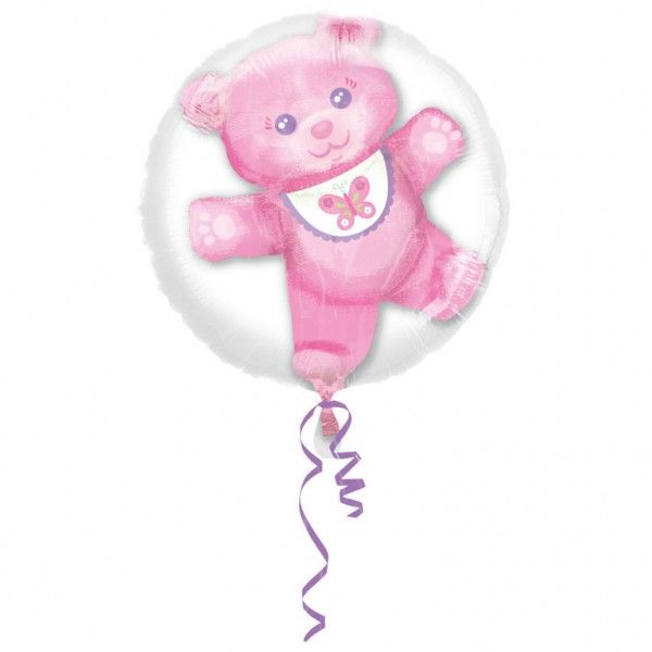 Poze Balon botez folie metalizata Insider Baby Girl 60x60 cm