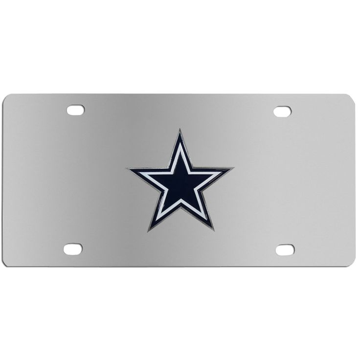 "Checkout our #LicensedGear products FREE SHIPPING + 10% OFF Coupon Code ""Official"" Dallas Cowboys Steel License Plate - Officially licensed NFL product Licensee: Siskiyou Buckle Stainless Steel License Plate Perfect for your vehicle or to hang on your wall Great way to show off your team pride Cast & enameled Dallas Cowboys emblem - Price: $35.00. Buy now at https://officiallylicensedgear.com/dallas-cowboys-steel-license-plate-fplt055"