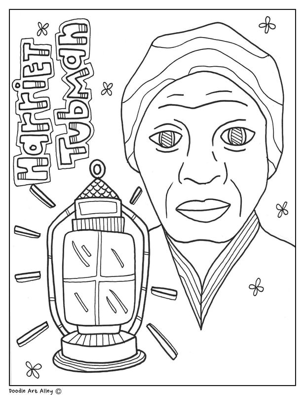 Harriet Tubman Coloring Page Harriettubman Undergroundrailroad