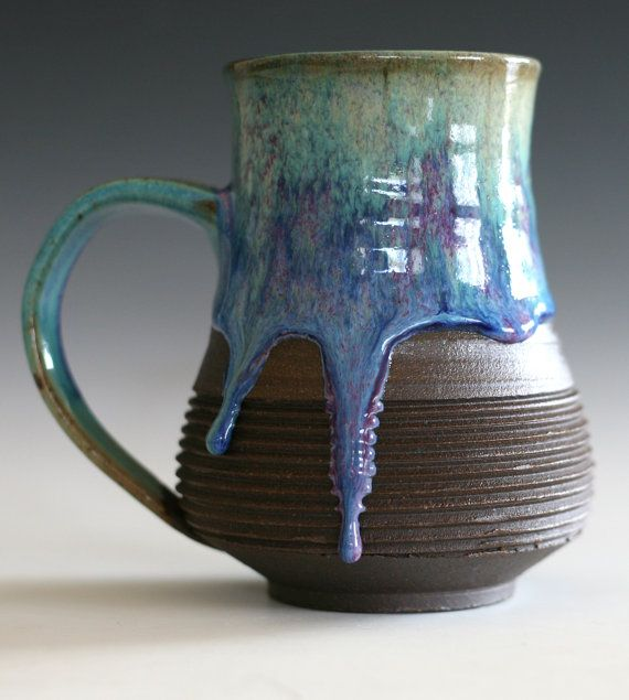 "Extra large handmade ceramic mug. The only word I can think of to describe this is ""delicious."""