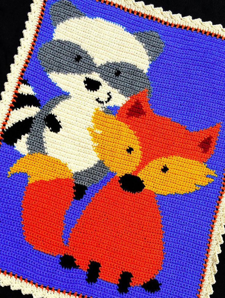 Details About Crochet Patterns Raccoon And Fox Baby