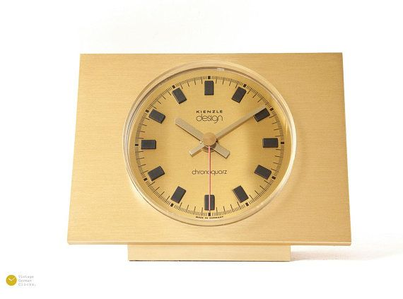 Mid Century Kienzle Table Clock Modern Bauhaus Atomic Space Age