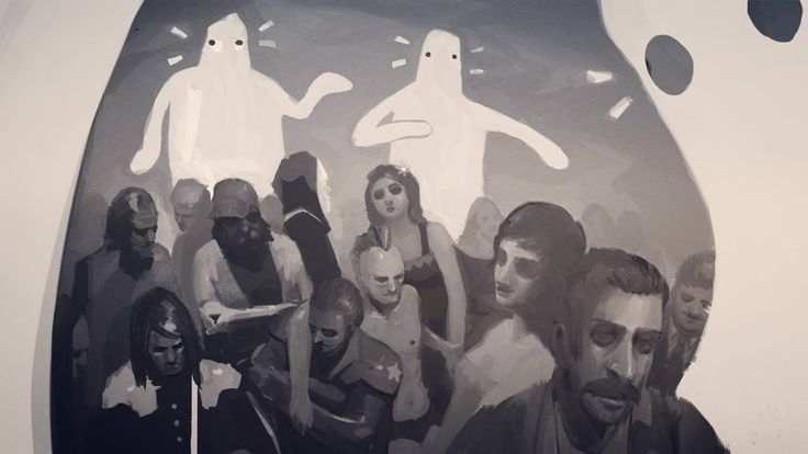 The ghosts are right behind you. Old painting I found in my files. #ghost #painting #sketch #fantasma #dibujo #destiny #goth #spooky