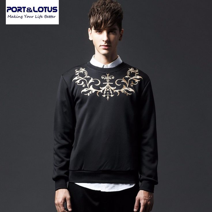 Port&Lotus Men Hoodies Brand New Arriving Fashion Long Sleeve Embroidery Casual 048 Mens Clothing wholesale #Affiliate