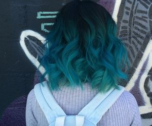 This is actually what my hair is at the moment! But the top bit is really bright blue then going into a darker green! Love this though!