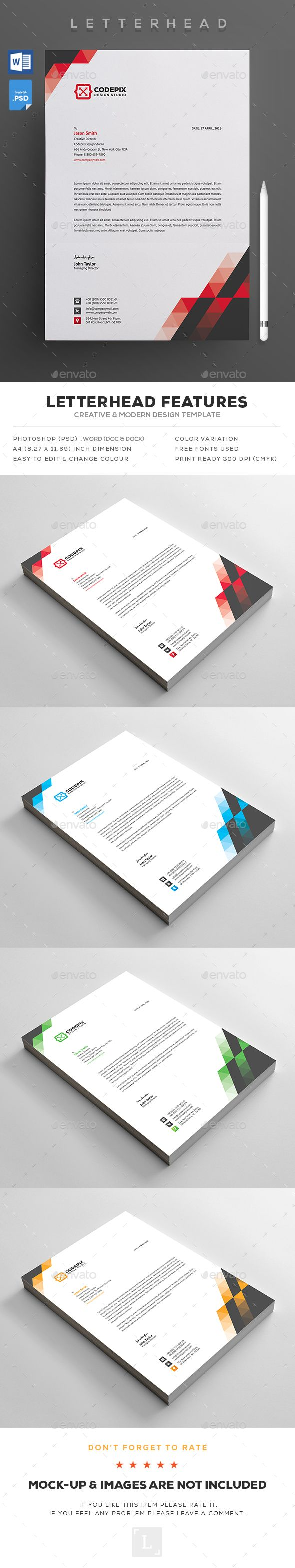 Best Letterhead Design Templates Images On