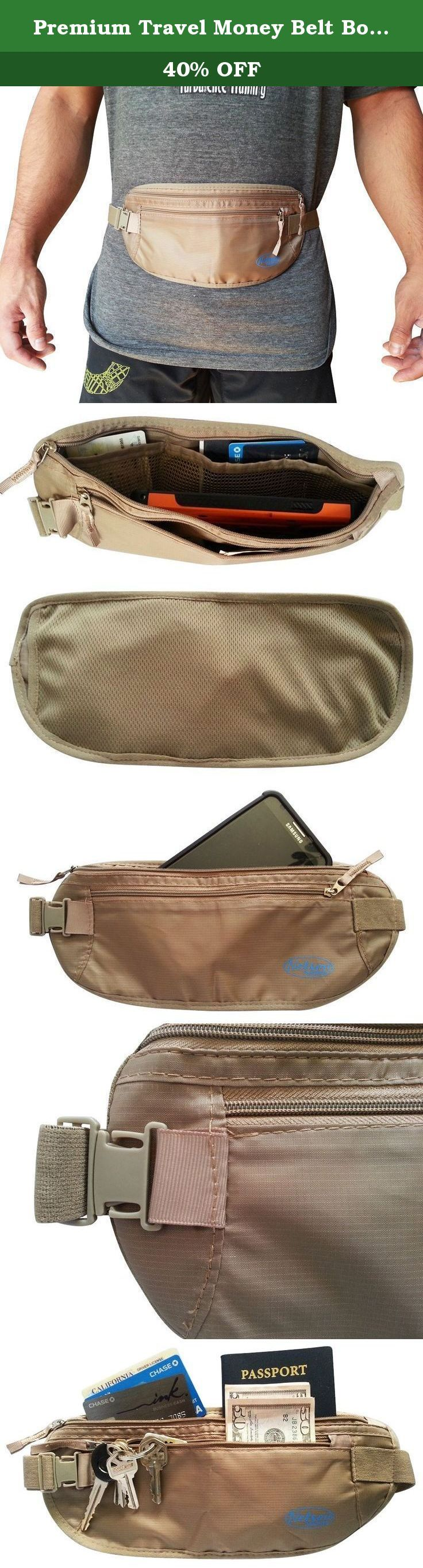 Premium Travel Money Belt Body Wallet with RFID Protection and Bonus Gift Dream Vacations You Can Afford E Book, Holds All Cell Phones and iphone 6 Plus. Our premium money belt has 2 separate compartments for your credit cards, cash and valuables on the inside. Our travel wallet is made to be worn under clothing with RFID blocking material to foil thieves. They won't even know you have it on! There is a soft breathable mesh panel at to keep you dry in all climates. Holds all cell phones...