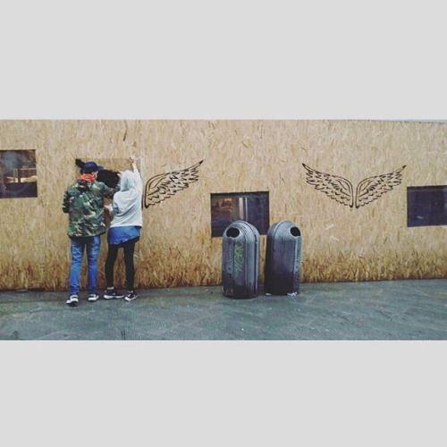 #wings #streetart #art #artist #wallart #murales #mural #muralart #subduedarezzo #subdued #workart #workinprogress #wip #cute #top #amazing #angels #danodivano