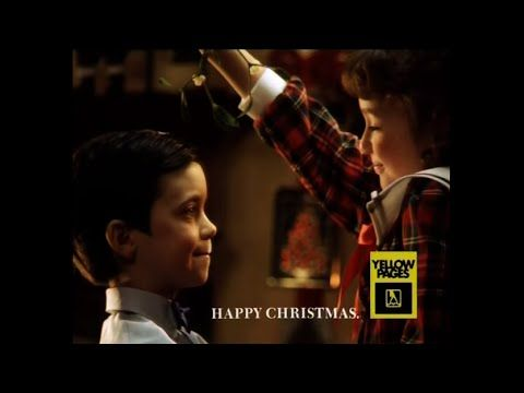 Yellow Pages Christmas TV advert - Mistletoe (1992)
