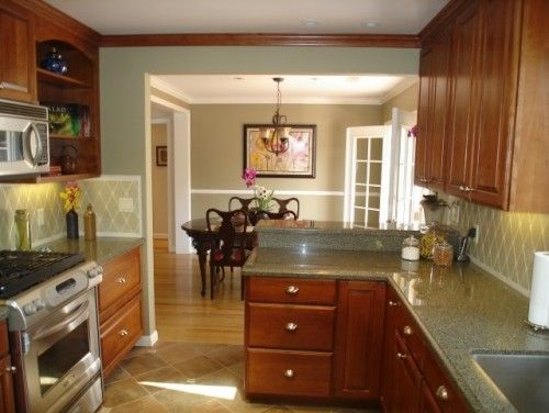 How to remove a railing between 2 rooms  before  Knock out wall between  Kitchen and dining. Remove Railing Between Kitchen And Family Room   Best of Image
