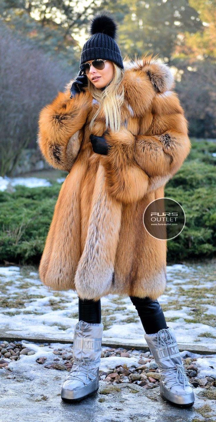 NEW 2017 GOLD FOX FUR COAT HOOD CLAS OF CHINCHILLA SABLE MINK SILVER JACKET VEST   eBay
