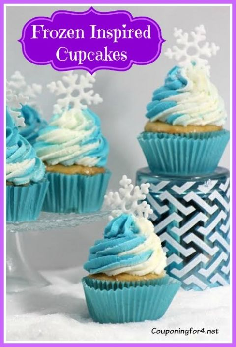 """""""Frozen"""" Inspired Cupcakes - Perfect for Your Little Princess"""