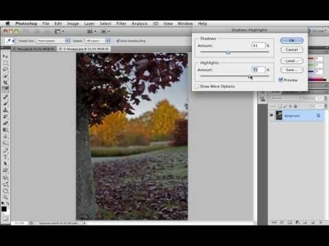 Grunderna i Photoshop CS5 - 09 Lyft ljuset i skuggor - Shadows/Highlights